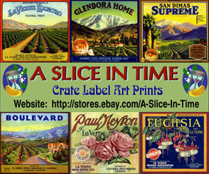 A Slice in Time - Crate Label Art Prints