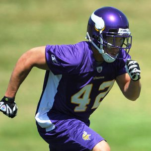 Former Damien star Ian Johnson working out with the Minnesota Vikings