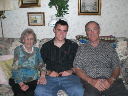 Cory with his grandparents.
