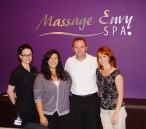 From left, Massage Envy's Amber Bartucca, Alison Ramirez, Rick Diebold and Jennifer Blaz are ready to help you enjoy all the health benefits of massage therapy.