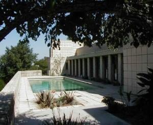 Poolside on the hillside