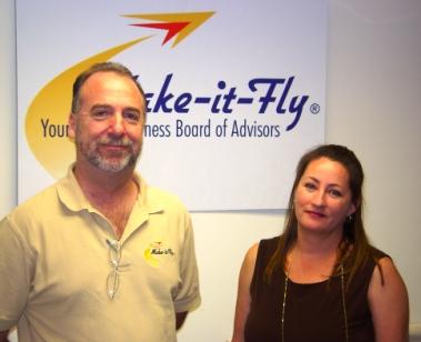 Make-it-Fly's Wade Sorolo and Dianne Ochoa