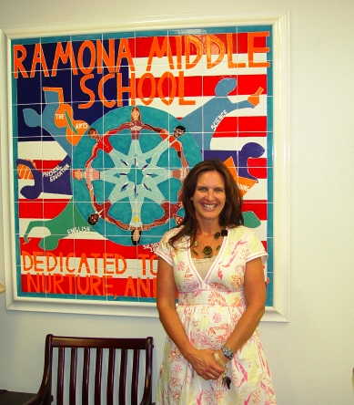 Ramona's enthusiastic, energetic and smart leader, Principal Anne Neal.