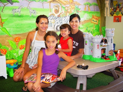 Maria with daughters, from left, Alicia, Jenna and Sophia.