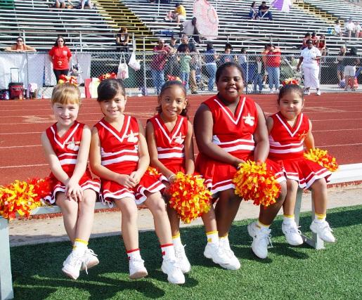 Archer cheerleaders from left, Dominique, Ariel, Jayln, Syriah and Zandria