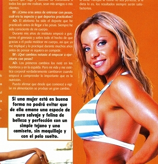 Abby has been featured in many magazine spreads, including this one in Spanish.