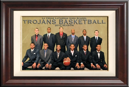 This promotional photo might be one of the few times anyone will be able to contain the La Verne Lutheran Trojans.