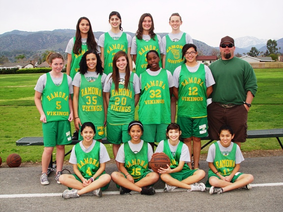 Ramona Middle School 8th Grade Girls' Basketball Team: