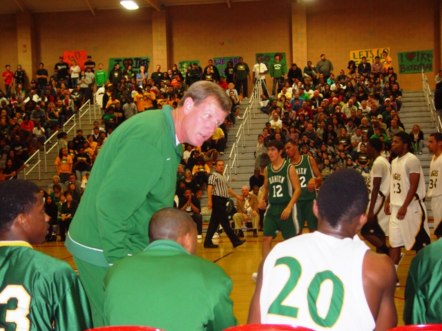 Eisenhower Coach Steve Johnson is one of the CIF Southern Section's most animated coaches.