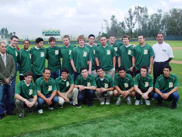 The 2010 Damien Baseball Team