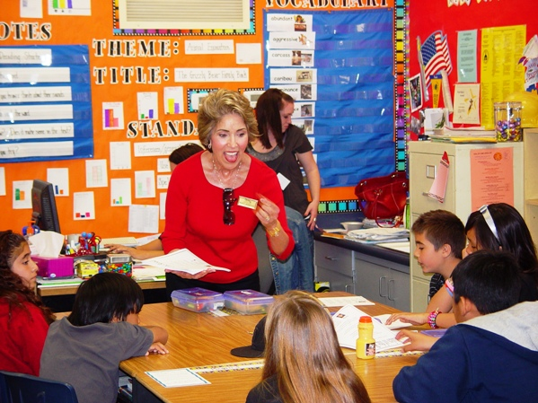 Century 21 Realtor Marty Rodriguez relished returning to school on Career Day at La Verne Heights Elementary School.
