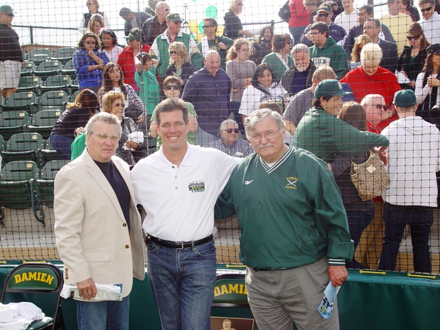 From left, Dick Larson, Dr. Steven Bast and Tom Carroll