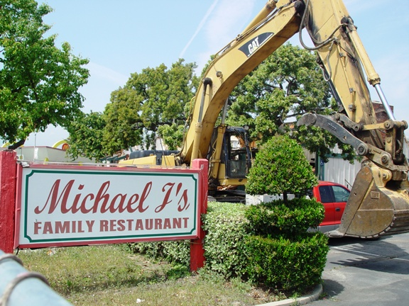 Out with the old, in with the new: Panera Bread is expected to open mid-August on the site formerly occupied Michael J's Family Restaurant