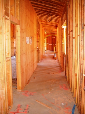 A look down the main hallway.