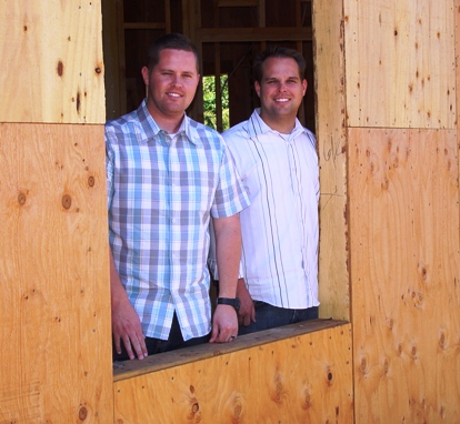 Looking out a window that offers a clear view of Baseline, partners Paul and Steven have a clear vision of their future.