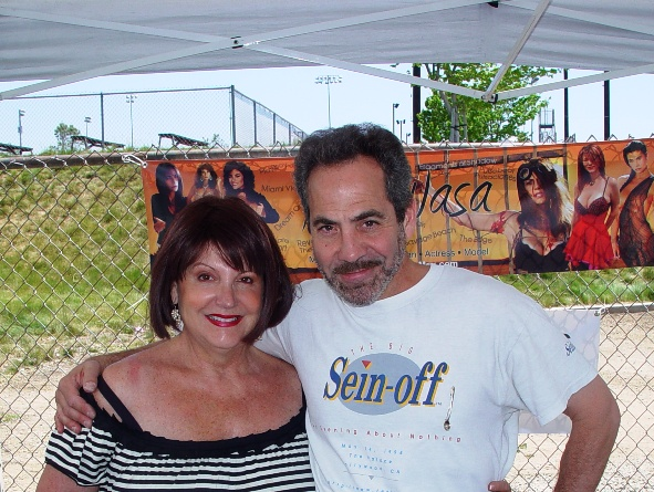 "La Verne Keller Williams Realtor Colleen Bennett and Larry Thomas, the ""Soup Nazi"" from ""Seinfeld."""