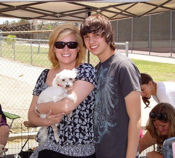 Sandi Norman and her son Kevin with new family member, Savannah.