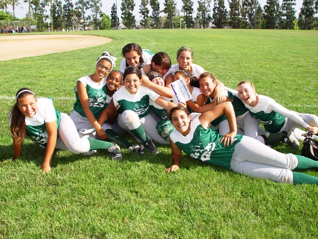 La Verne Girls Softball Association all-stars practice hard, but also leave time for fun, too.