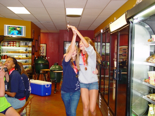 At any moment, the Corner Butcher Shop can break out into dance, especially when the Club West 12 Elite team is in town.