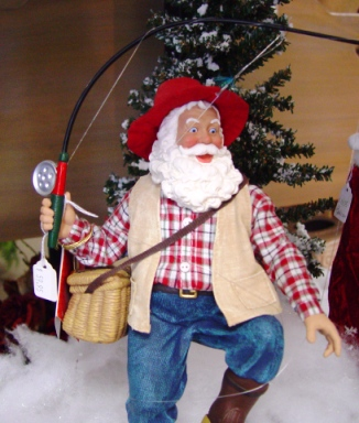 A Possible Dreams Santa sports a new fishing rod.