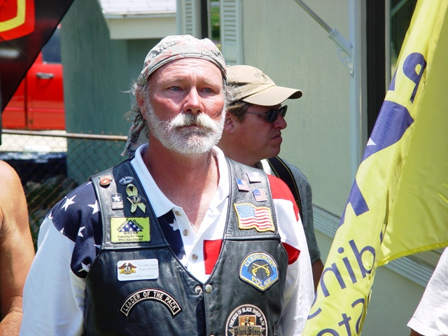 Tim Morrison, the organizer of La Verne's Friends of the Fourth motorcycle group.