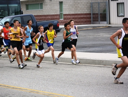 Runners battle for a spot on the Jr. Olympics team.