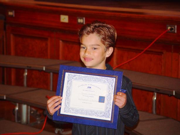 Spencer, a Reflections award winner.