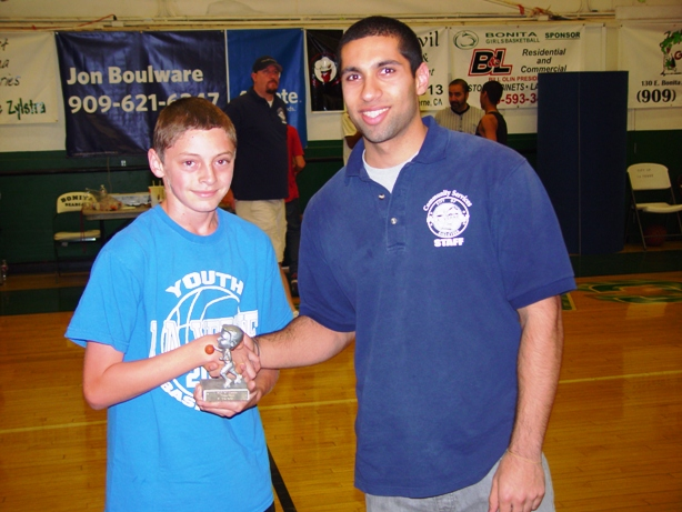"""Dead-eye Dylan Franco won the three-point shoot-out in the """"A"""" Division."""