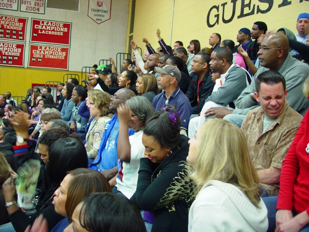 It was a tight fit for Trojan fans all night long.