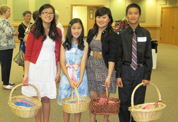 Student helpers Grace Phan, Emily Phan, Catherine Phan, Christopher Phan were Phan-tastic.