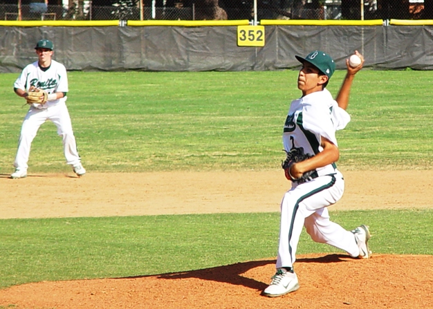 Justin Garza was unhittable through the first six innings.