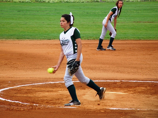 Mikayla Cirrillo consistently pumped in strikes the entire game.