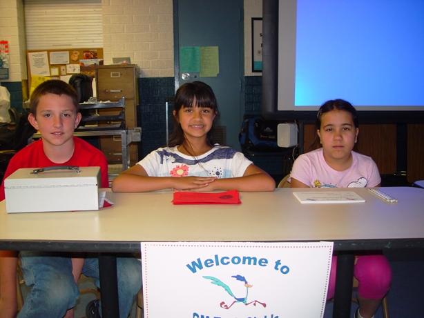 Tech Club Members Nick Maidens, Karina Murphy and Jacinda served on the Welcoming Committee.