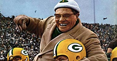 Does anyone see a resemblance between Vince Lombardi and Coach Podley. Could Podley be riding on the shoulders of his players at league's end?