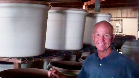 Gainey produces vessels and planters of all sizes.