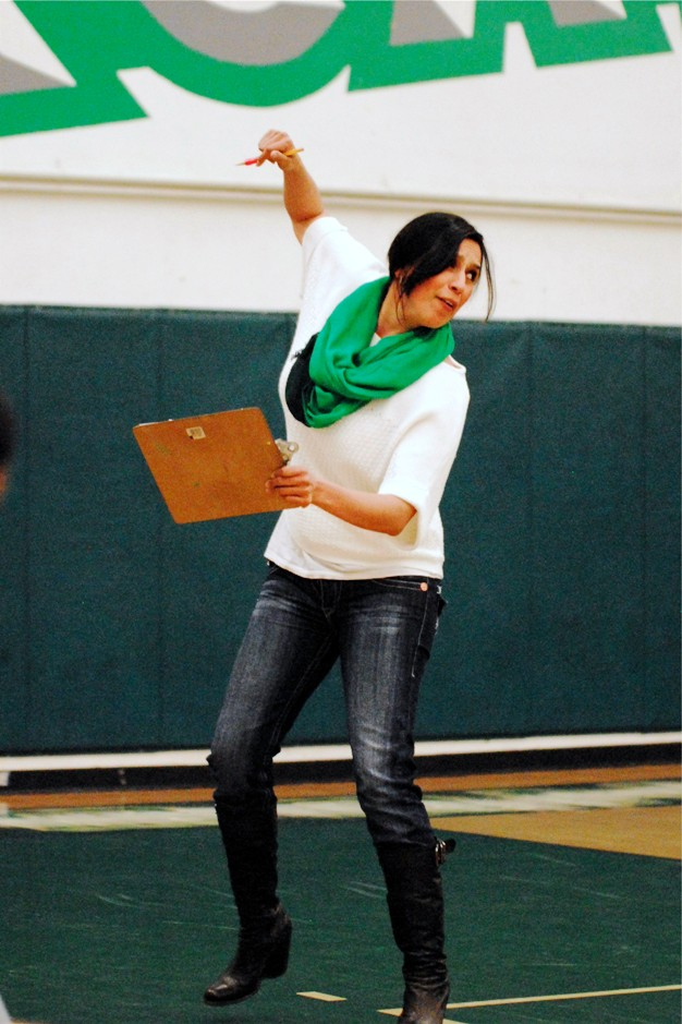 Could volleyball coach Adriana Contreras be starting some new dance craze? Not since watching Elaine (Julia Louis-Dreyfus) on Seinfeld has La Verne seen such dance moves!