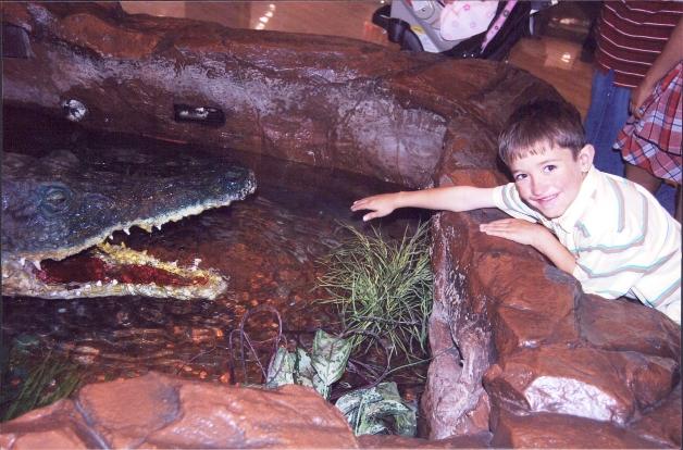 Manny even made alligators melt.