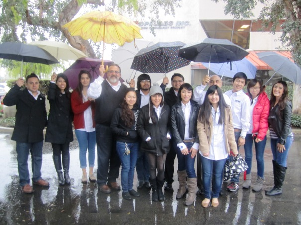 SIFE students from the University of La Verne didn't let a little rain keep them from lending a hand to Sowing Seeds for Life.