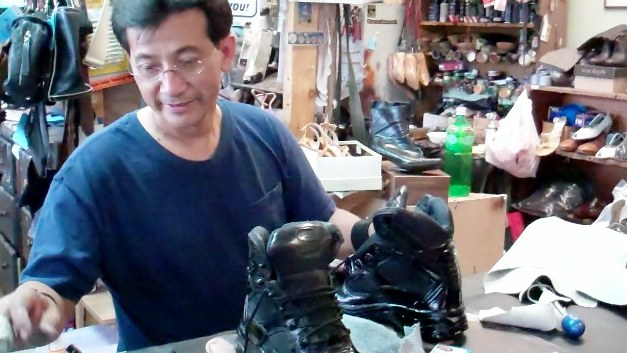 "La Verne shoemaker Carlos ""Andy"" Galvez cobbles together a thriving business with quality and by speaking his mind."