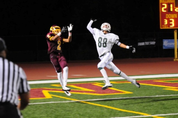 No. 88 bats away the football to end West Covina's last threat of scoring.