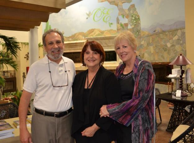 Colleen Bennett, center, with Tony and Pat Ponzo, enjoyed the elegant book signing for &quot;Life Lessons of a Harvard Reject.&quot; Tony is also the author Never Let Wall Street Cheat You Again.
