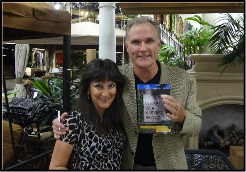 Randi Marshall and Life Lessons author Peter Bennett share an Outdoor Elegance moment at book signing.