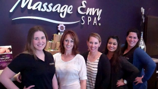 Jennifer Blaz, second from left, is putting Massage Envy on the map in Southern California.