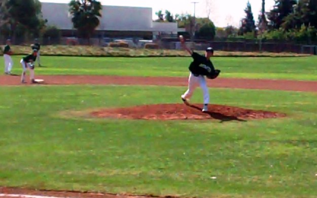 Nick Johnson was in total control on Saturday while pitching a 10-0 shutout against crosstown rival San Dimas.