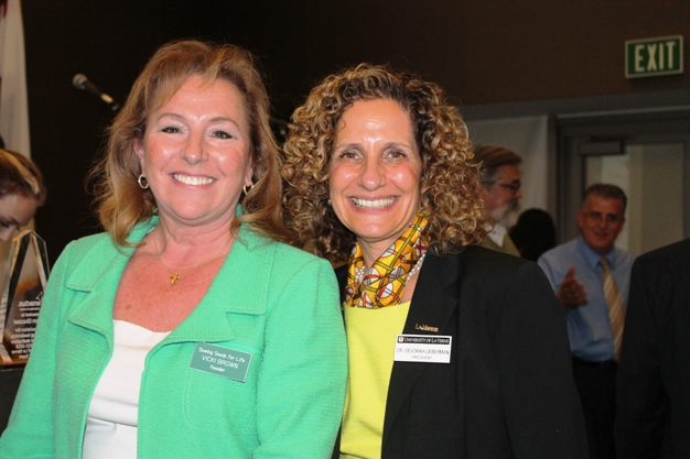 Sowing Seeds for Life CEO Vicki Brown, left, and University of La Verne President Dr. Devorah Lieberman have enacted many outstanding programs to benefit the community.