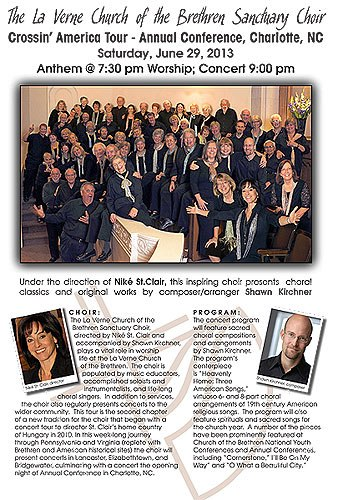 The La Verne Church of the Brethren Sanctuary Choir is making headlines from coast to coast.