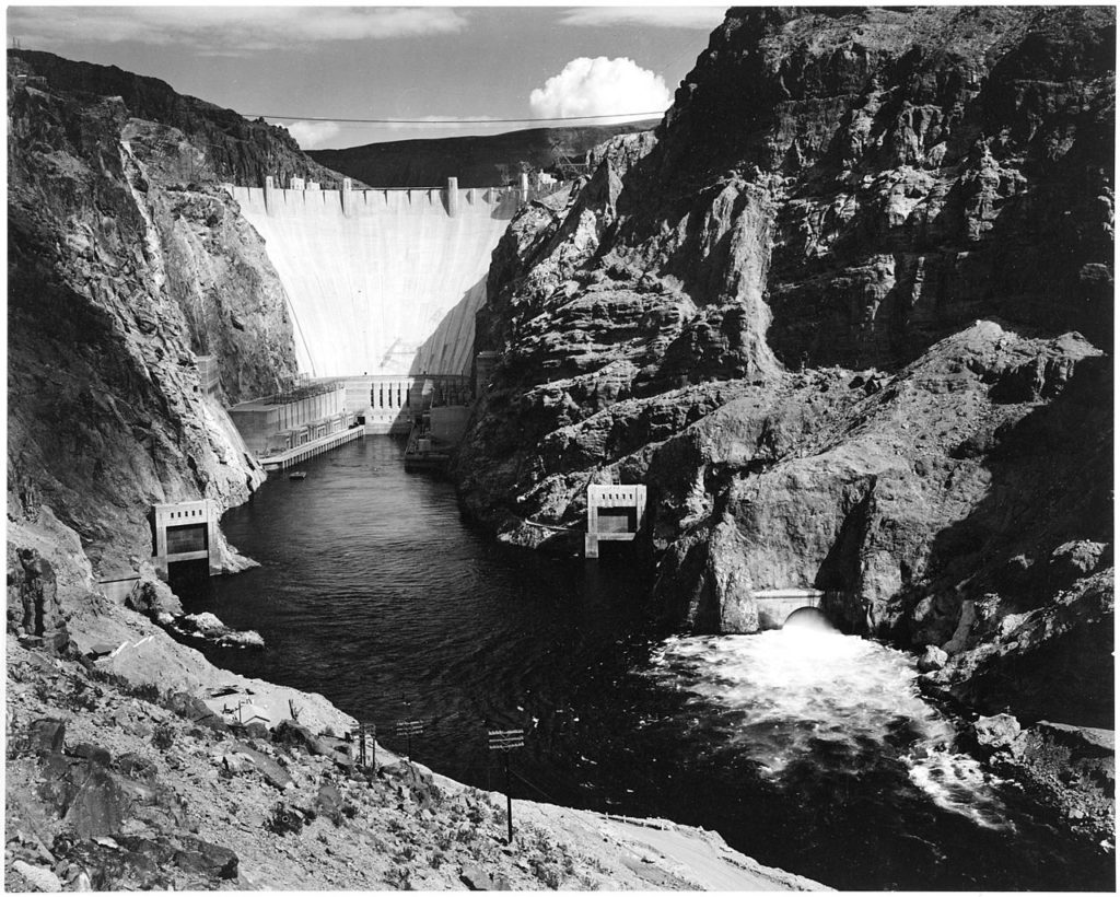 Hoover Dam, one of Kaufmann's larger projects.
