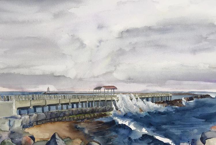 The Cabrillo pier.