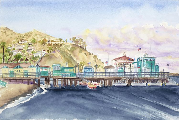 Santa Catalina pier.