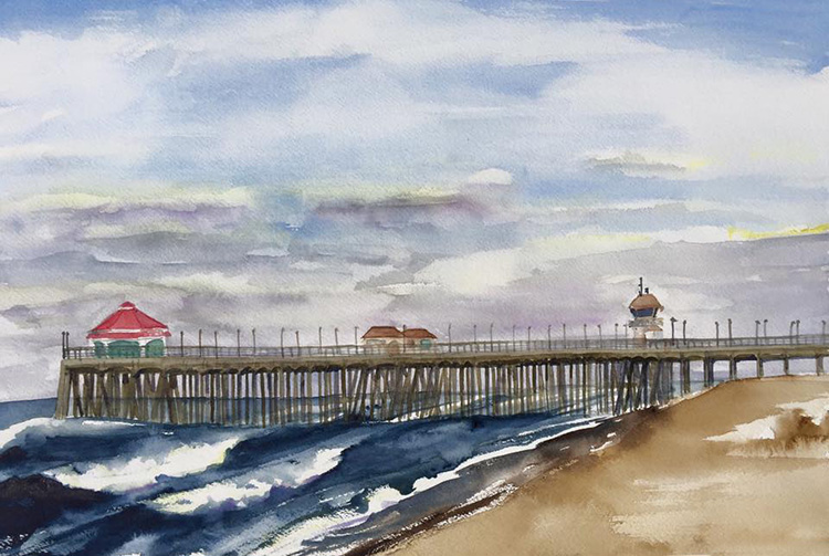 Huntington Beach pier, No. 50.
